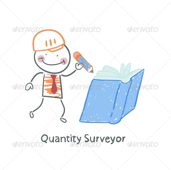 GraphicRiver Quantity Surveyor Wrote in Pencil in a Book 5642524
