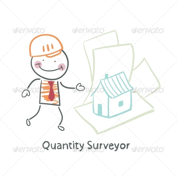 GraphicRiver Quantity Surveyor Design House on Paper 5642543