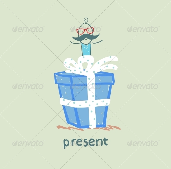 GraphicRiver Person Gives a Gift 5642557
