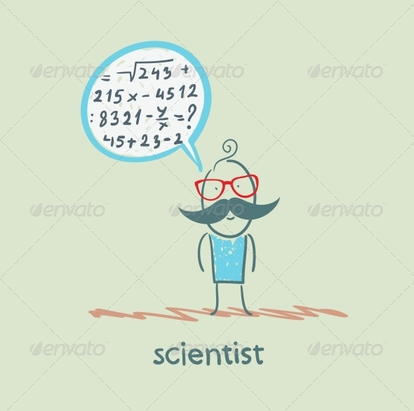 GraphicRiver Scientist Thinks About the Formula 5642654