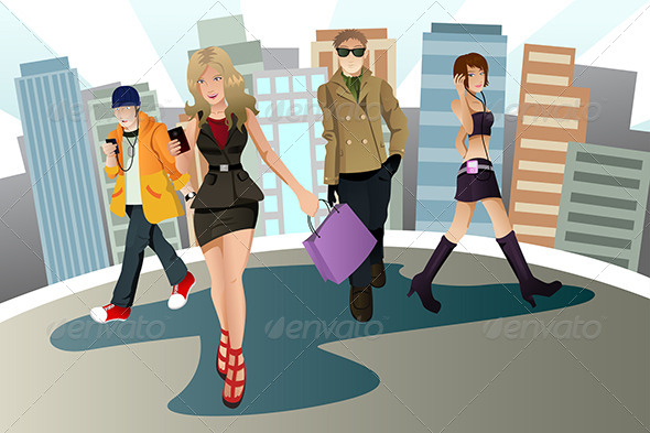 GraphicRiver Young Urban People 5642907