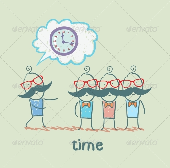 GraphicRiver Man Tells About the Time 5643079