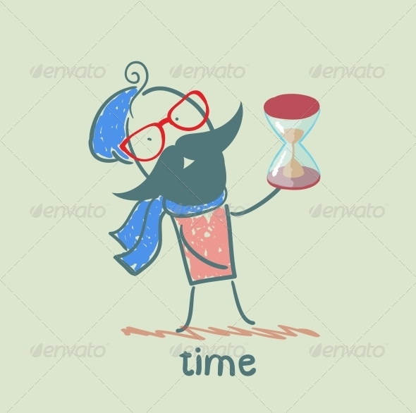 GraphicRiver Man with an Hourglass 5643193
