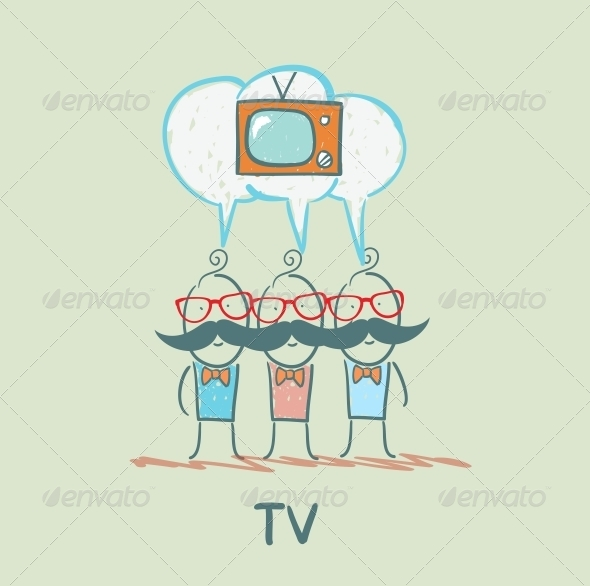 GraphicRiver People Think About the TV 5643312