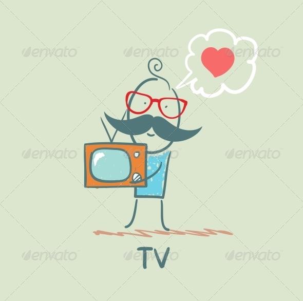 GraphicRiver People like TV 5643424