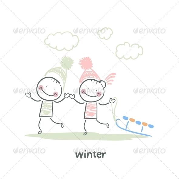 GraphicRiver Winter Walk 5643502