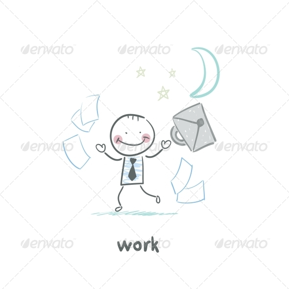 GraphicRiver Man and Work 5643548