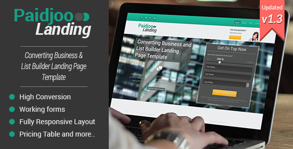 Paidjoo | Business & List Builder Landing Page - Business Corporate