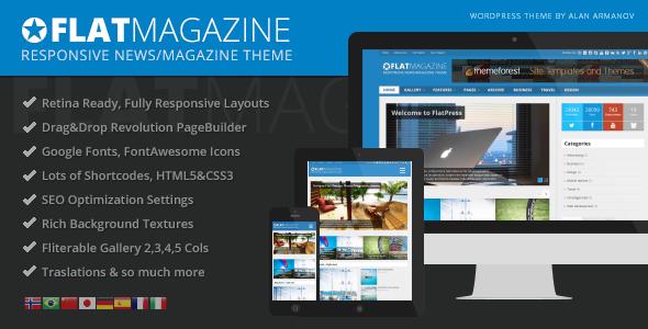ThemeForest FlatMagazine Responsive News Magazine Theme 5615775
