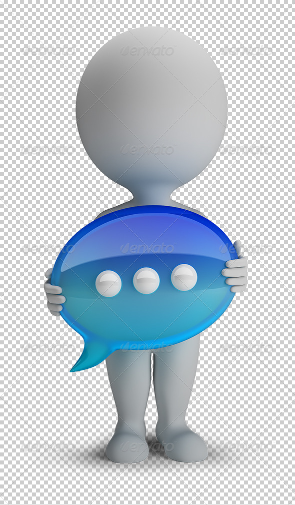 GraphicRiver 3D small people chat icon 5644993