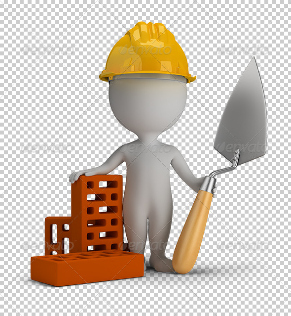 GraphicRiver 3D small people builder in the helmet 5645265