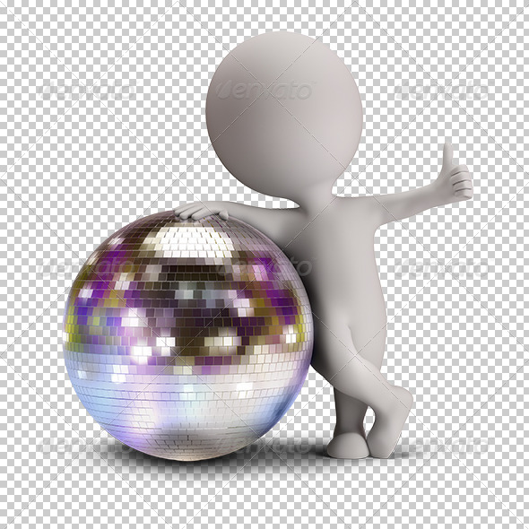 GraphicRiver 3D Small People Disco Ball 5645951