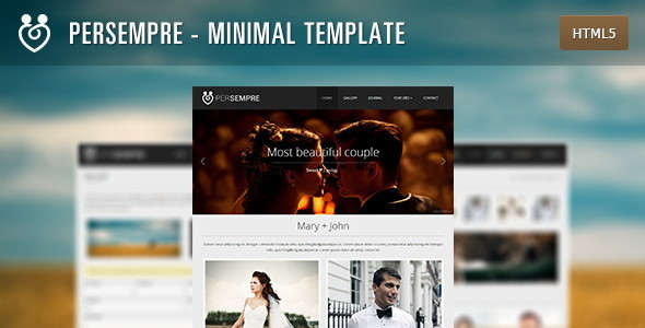 PerSempre - Minimal HTML5 Template - Events Entertainment