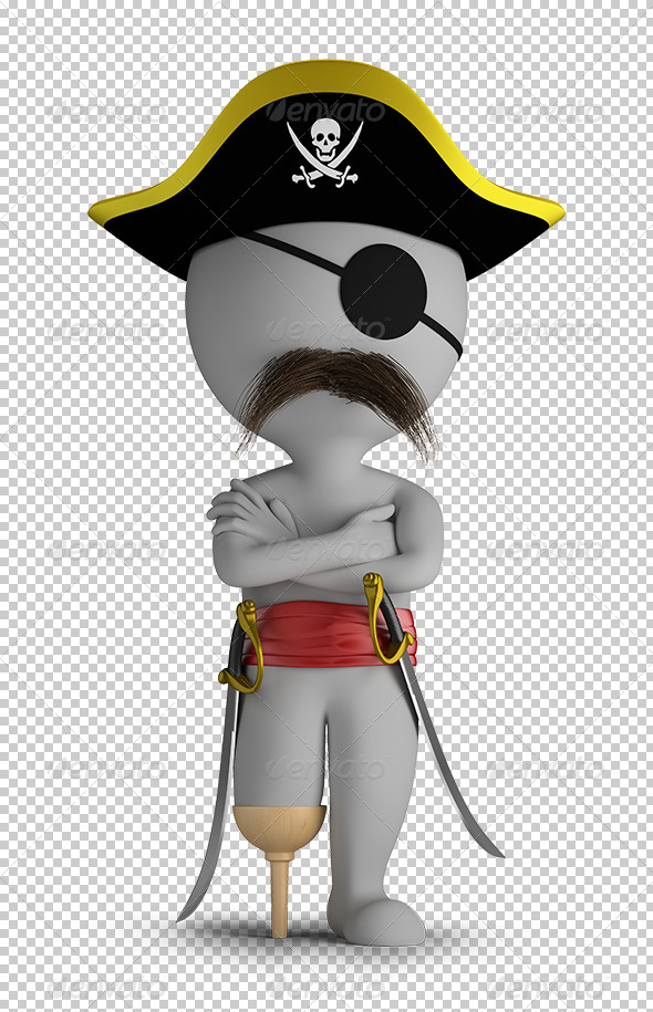 GraphicRiver 3D Small People Pirate 5646222