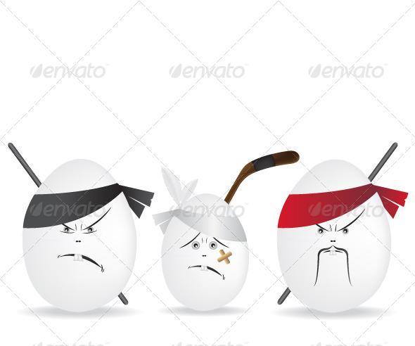 GraphicRiver Ninja Eggs Illustration 5646551
