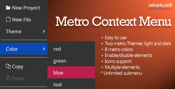 CodeCanyon Metro Context Menu 5647288