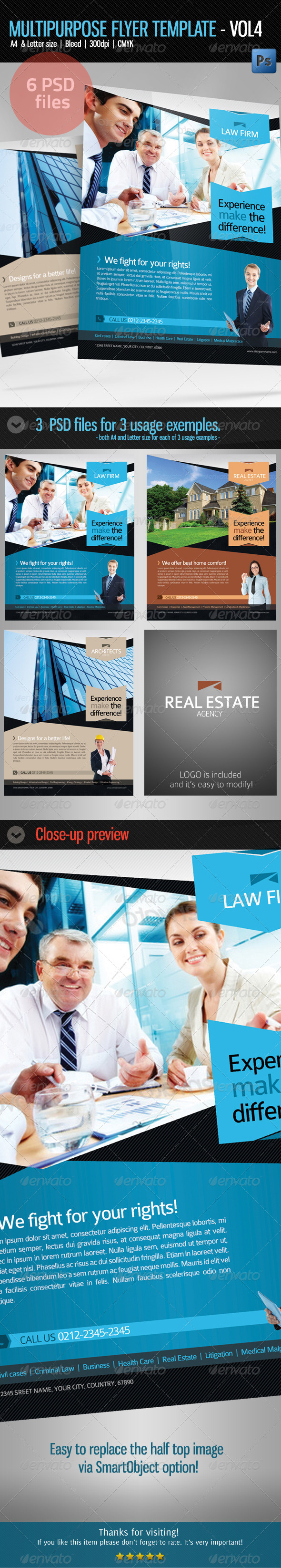 GraphicRiver Multipurpose Business Flyer Template Vol 4 5648205