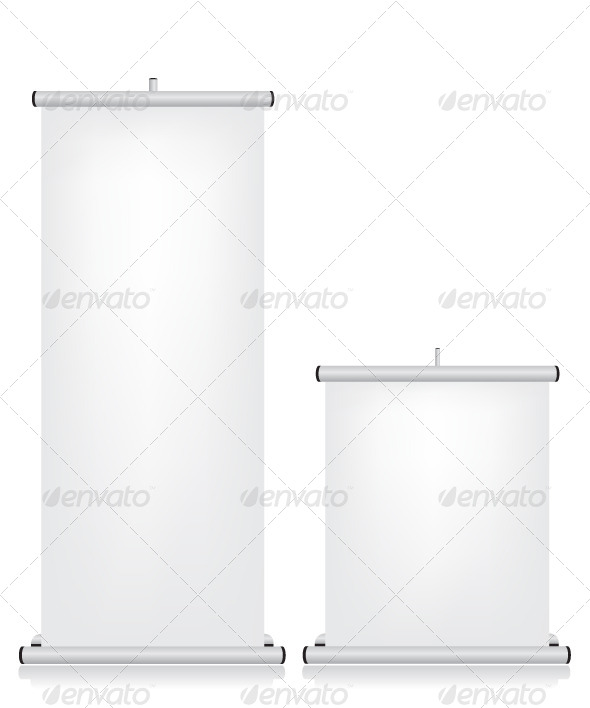 GraphicRiver Roll Up White Banner 5648397