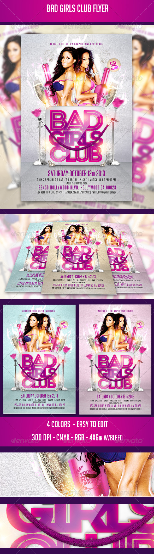 GraphicRiver Bad Girls Club Flyer 5648825