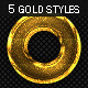 5 Gold Text Effect Photoshop Style - GraphicRiver Item for Sale