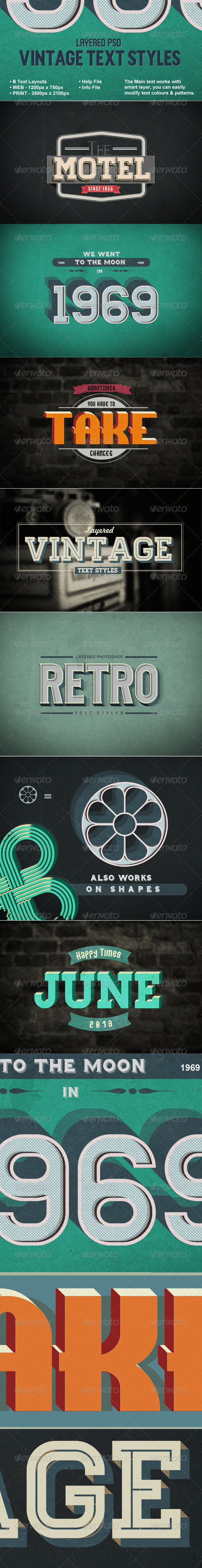 Vintage Text Styles - Photoshop Add-ons