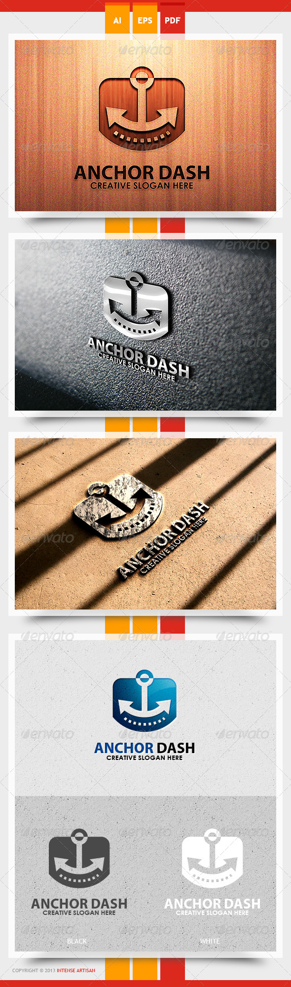 Anchor Dash Logo Template - Objects Logo Templates