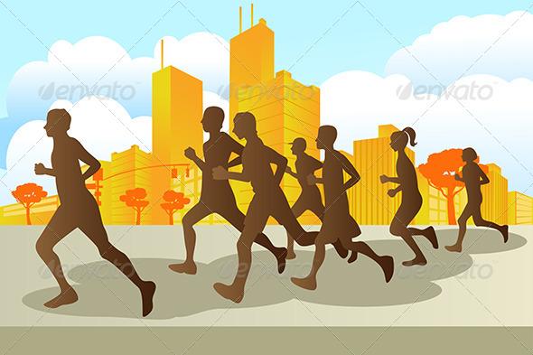 GraphicRiver Marathon Runners 5651784