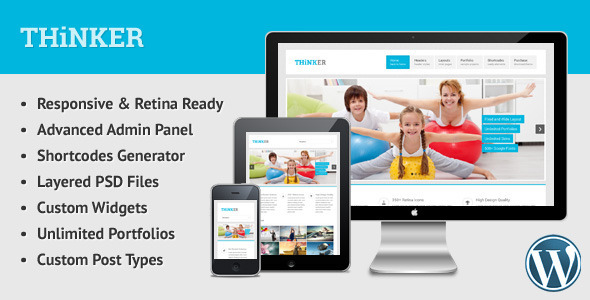 ThemeForest Thinker Retina Responsive Multipurpose WP Theme 5562759