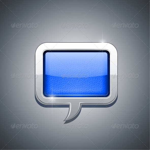 GraphicRiver Metallic Speech Bubble 5652668