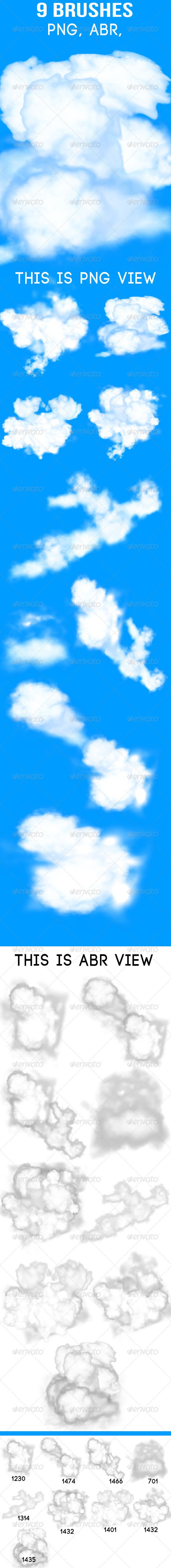 GraphicRiver 9 Cloud Brushes 5653157