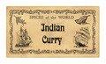 Spice label Indian Curry - PhotoDune Item for Sale