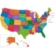 Colorful USA Map - GraphicRiver Item for Sale