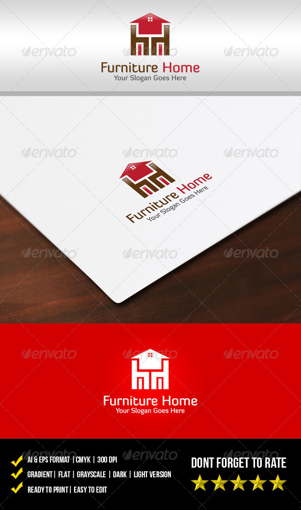 Furniture Home Logo - Buildings Logo Templates