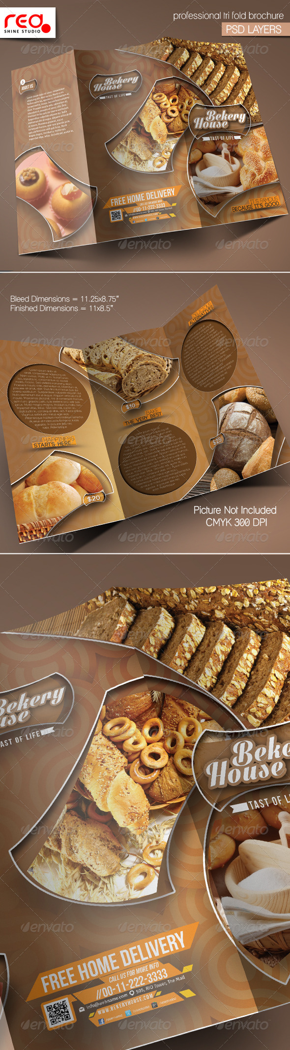 GraphicRiver Bekery House Trifold Brochure Template 5653634