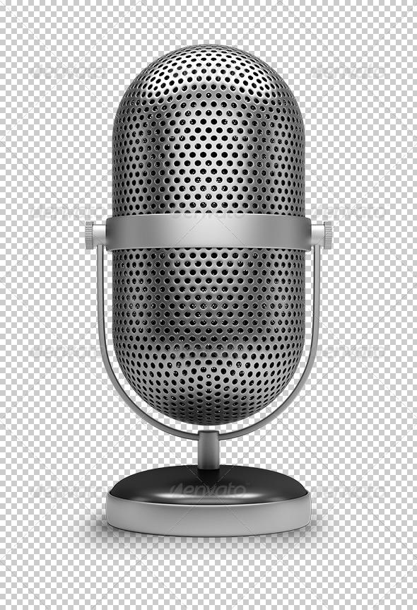 GraphicRiver Retro microphone 5653796