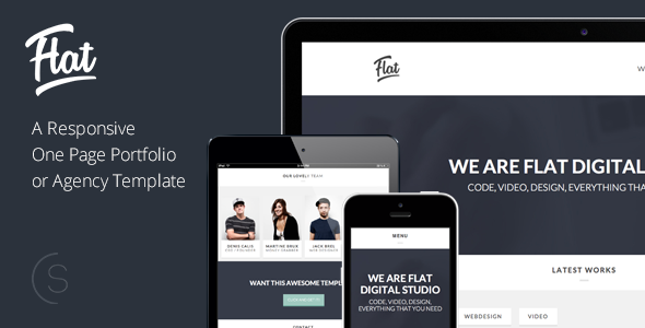 Flat Studio - Responsive One Page HTML Template - Creative Site Templates