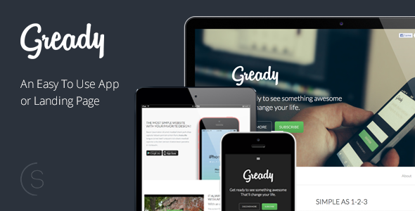 Gready - An Easy To Use App and Landing Page