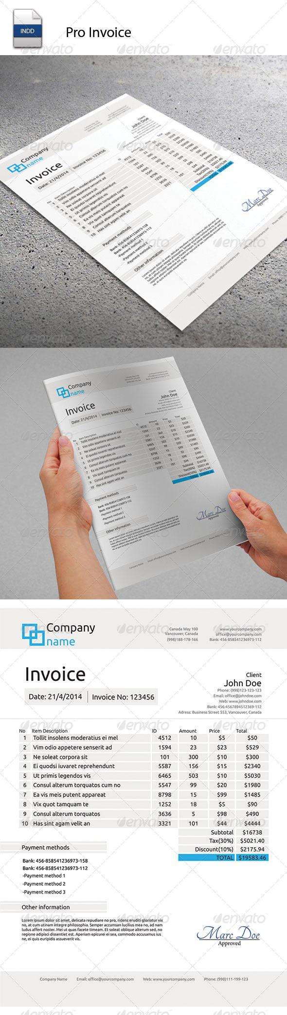 GraphicRiver Pro Invoice 5578228