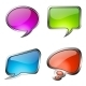 Set of Colorful Glass Speech Bubbles - GraphicRiver Item for Sale
