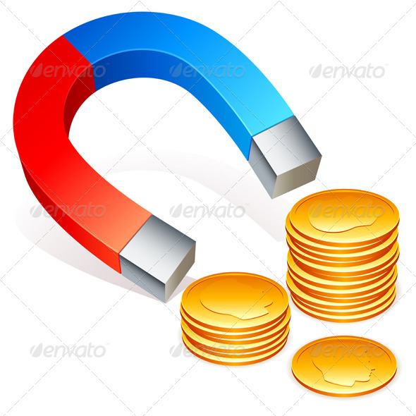 GraphicRiver Magnet and Coins 5655823