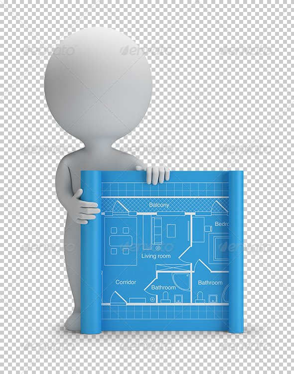 GraphicRiver 3D Small People Blueprint 5656236