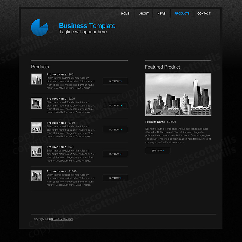 Business Template | Dark &amp; Clean