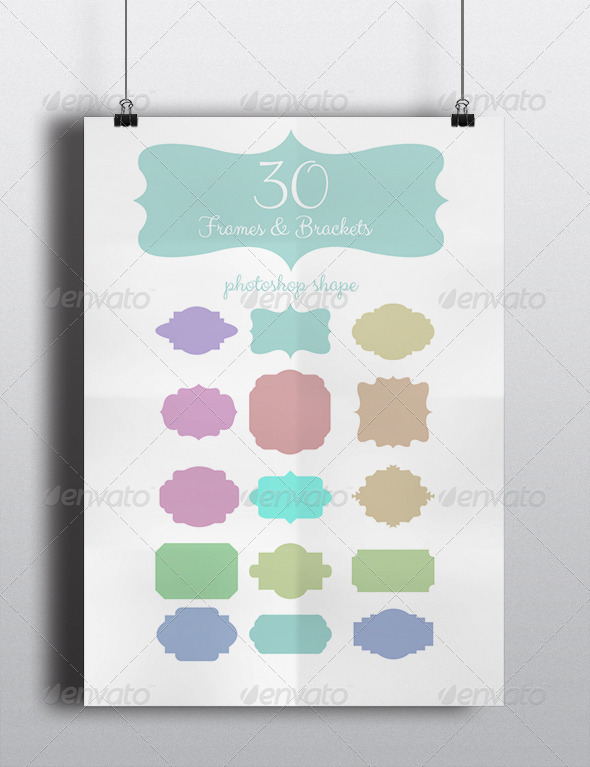 GraphicRiver 30 Frames & Brackets 5658085