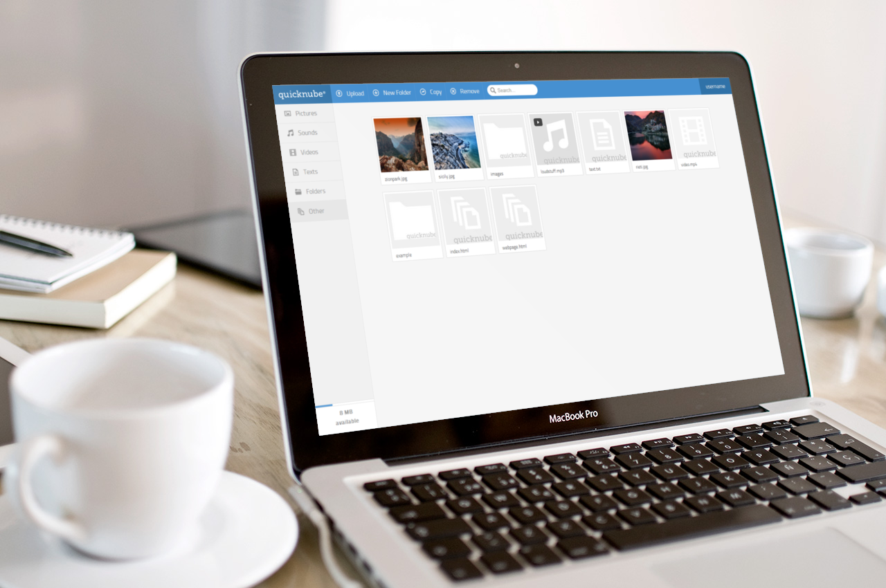Quicknube - Minimal Design File Hosting Script