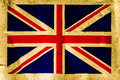 UK flag on old brown paper - PhotoDune Item for Sale