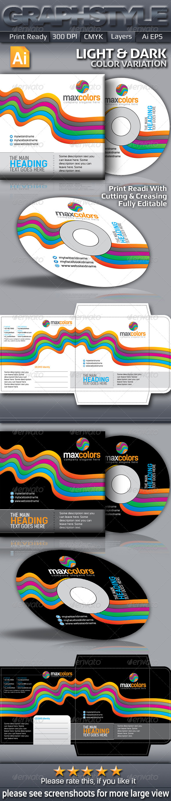 GraphicRiver Maxcolors CD Sleeve & Sticke 5662172