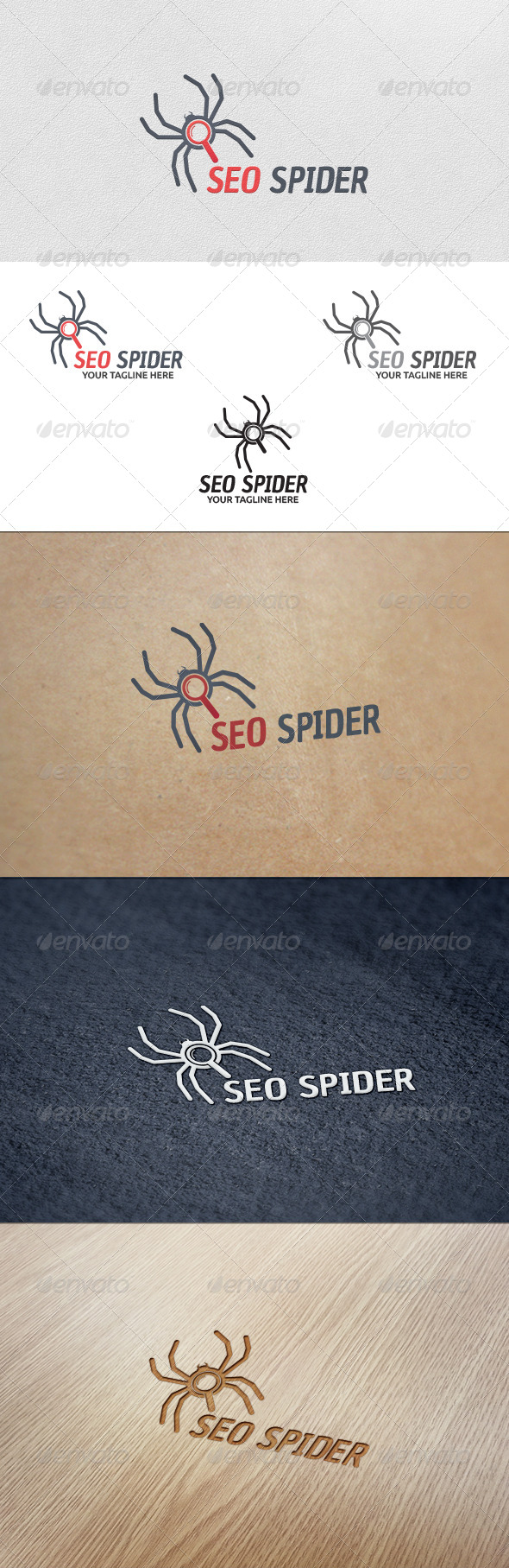 GraphicRiver SEO Spider Logo Template 5663042