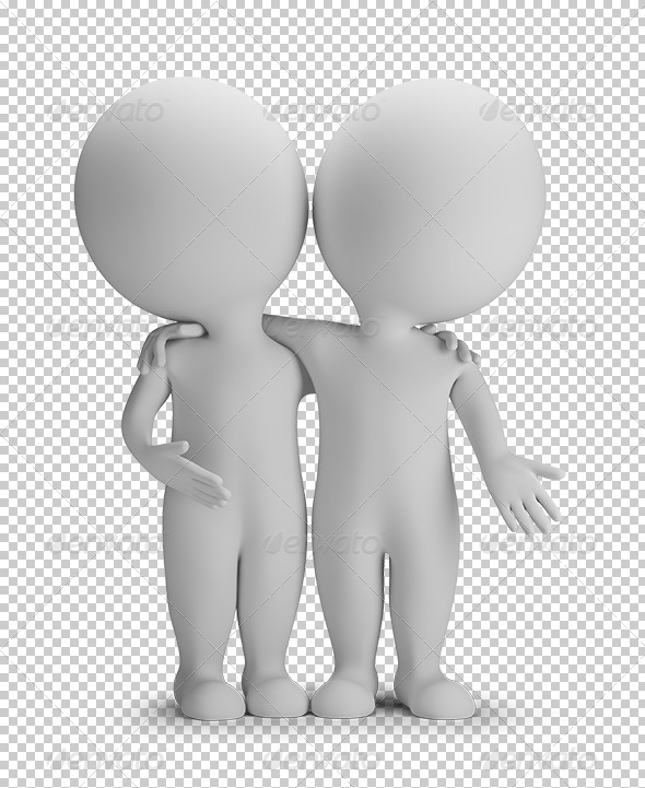 GraphicRiver 3D Small People Friends 5663572