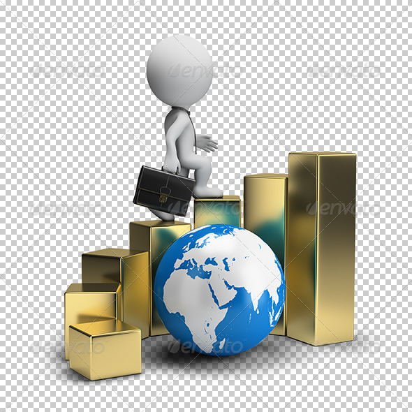 GraphicRiver 3D Small People Global Business Growth 5663595