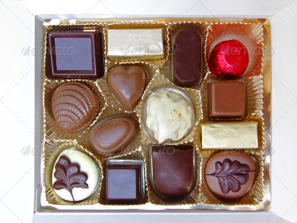 Box of chocolates - Stock Photo - Images